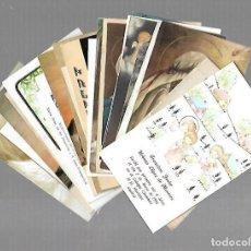 Postales: LOTE DE 25 TARJETAS RELIGIOSAS. VARIAS IMAGENES. VER. Lote 98180851