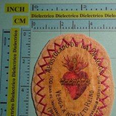 Postales: RECORDATORIO RELIGIOSO. PARCHE INDULGENCIA DE 100 DÍAS. APOSTOLADO DE LA ORACIÓN. . Lote 98247923