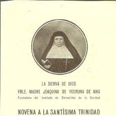 Postales: ESATAMPA MADRE JOAQUINA DE VEDRUNA DE MAS. FUNDADORA DEL INSTITUTO DE CARMELITAS DE LA CARIDAD.. Lote 98803271