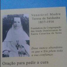 Postales: MADRE TERESA SALDANHA.FUNDADORA DE LAS DOMINICAS DE STA CATALINA DE SIENA. Lote 98803371