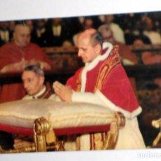 Postales: POSTAL ANTIGUA PABLO VI PAPA DE ROMA. SELLO VATICANO. CIRCULADA. Lote 98812447