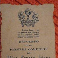 Postales: RECUERDO PRIMERA COMUNION.ELISA CRUCES LOPEZ.DOS HERMANAS.SEVILLA.1933. Lote 98815591