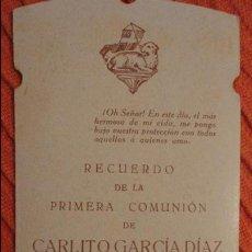 Postales: RECUERDO PRIMERA COMUNION.CARLOS GARCIA DIAZ.DOS HERMANAS.SEVILLA.1931. Lote 98815631