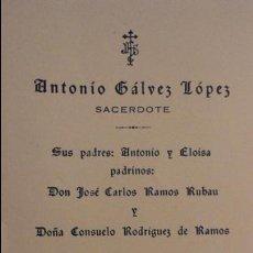 Postales: RECUERDO PRIMERA MISA.ANTONIO GALVEZ LOPEZ.CASTILBLANCO DE LOS ARROYOS.1959. Lote 98815843