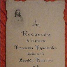 Postales: RECUERDO EJERCICIOS ESPIRITUALES.SECCION FEMENINA.SAN EUTROPIO.PARADAS.SEVILLA.1938.GUERRA CIVIL. Lote 98816607