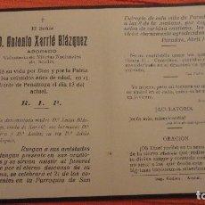 Postales: RECUERDO FUNERAL.ANTONIO XARRIE BLAZQUEZ.MILICIAS NACIONALES.PARADAS.SEVILLA.1937.GUERRA CIVIL. Lote 98816627