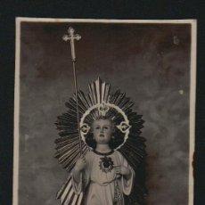 Postales: NIÑO JESÚS SOBRE NUBES. FOTOGRAFIA RELIGIOSA DE PRINCIPIOS DE SIGLO XX.. Lote 98880075