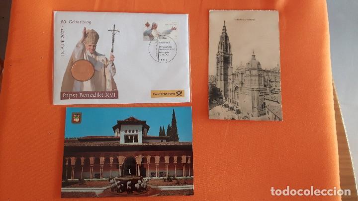 LOTE POSTAL :DEUTSCHE POST 2007, CON MEDALLA BENEDICTINO XVI Y OTROS (Postales - Postales Temáticas - Religiosas y Recordatorios)