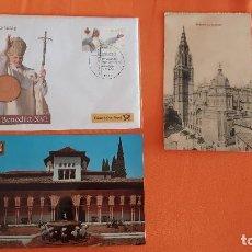 Postales: LOTE POSTAL :DEUTSCHE POST 2007, CON MEDALLA BENEDICTINO XVI Y OTROS. Lote 99089079