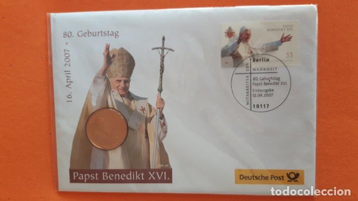 Postales: Lote Postal :Deutsche Post 2007, con medalla Benedictino XVI y otros - Foto 6 - 99089079