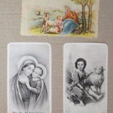 Postales: LOTE DE 3 PEQUEÑAS POSTALES RELIGIOSAS, ANTIGUAS. Lote 99111999