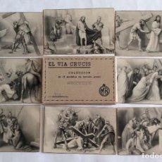 Postales: ESTUCHE CON 14 POSTAL. EL VIA CRUCIS. COMPLETO 14 ESTACIONES.. Lote 99704755