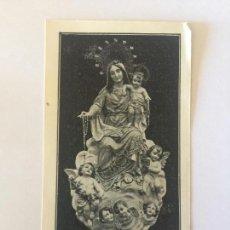 Postales: ESTAMPA RELIGIOSA PUBLICIDAD TALLERES DEL ROSARIO.. Lote 99887171