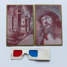 Postales: DOS CARTAS RELIGIOSAS CON GAFAS EN TRES D. ALEMANIA 1930 - 1940. Lote 100376523