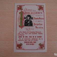 Postales: INVOCACIONES NUESTRA SEÑORA DEL PERPETUO SOCORRO. Lote 100453435