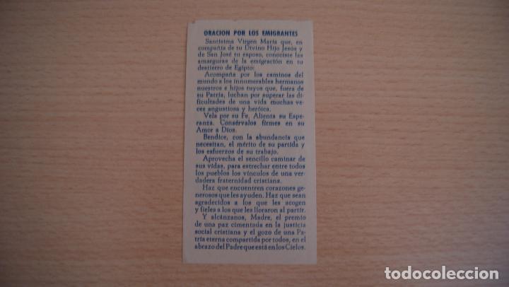 Postales: Estampa Estampita Jesús Emigrante - Foto 2 - 100455395
