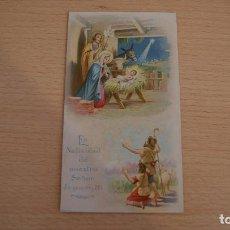 Postales: ESTAMPA ESTAMPITA LA NATIVIDAD DE NUESTRO SEÑOR JESUCRISTO. Lote 100455915