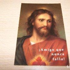 Postales: ESTAMPA ESTAMPITA SAGRADO CORAZÓN DE JESÚS AMIGO QUE NUNCA FALLA. Lote 100456139