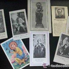 Postales: LOTE DE 8 ESTAMPAS RELIGIOSAS ANTIGUAS. Lote 101121291