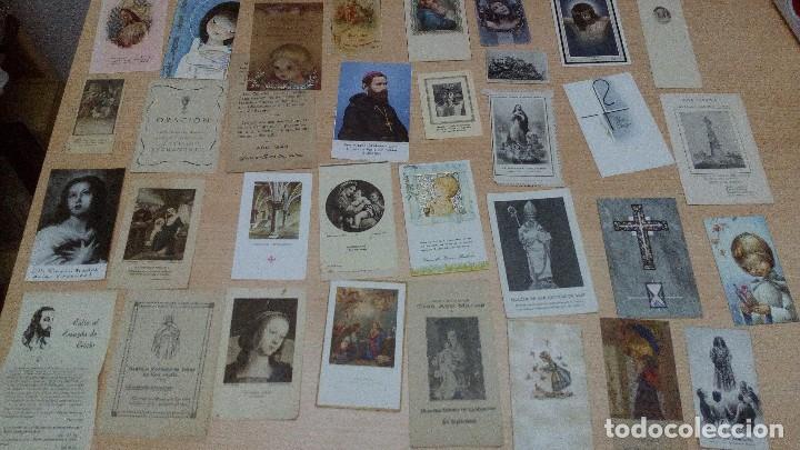 LOTE 34 ESTAMPITAS Y RECORDATORIOS (Postales - Postales Temáticas - Religiosas y Recordatorios)