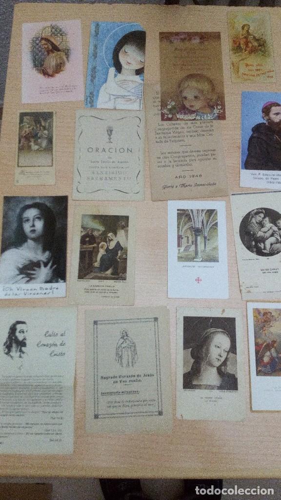 Postales: Lote 34 estampitas y recordatorios - Foto 4 - 101772403