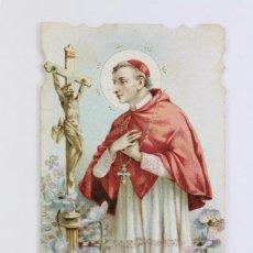 Postales: ANTIGUA ESTAMPA RELIGIOSA - LITOGRAFIADA Y TROQUELADA - S. CARLOS - PRINCIPIOS SIGLO XX. Lote 102593639