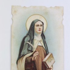 Postales: ESTAMPA RELIGIOSA - LITOGRAFIADA Y TROQUELADA - SANTA TERESA DE JESÚS - PRINCIPIOS SIGLO XX. Lote 102594119