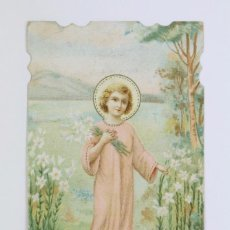 Postales: ANTIGUA ESTAMPA RELIGIOSA - LITOGRAFIADA Y TROQUELADA - NIÑO JESÚS - PRINCIPIOS SIGLO XX. Lote 102594207