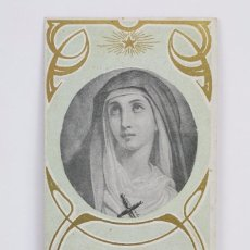 Postales: ANTIGUA ESTAMPA RELIGIOSA MODERNISTA - LITOGRAFIADA - LA DOLOROSA - PRINCIPIOS SIGLO XX. Lote 102596795