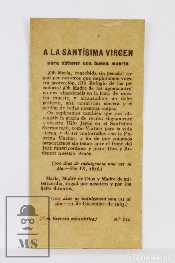 Postales: Antigua Estampa Religiosa Modernista - Litografiada - La Dolorosa - Principios Siglo XX - Foto 2 - 102596795