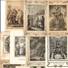 Cartes Postales: 11 ESTAMPAS RELIGIOSAS DEL SIGLO XIX CON BUENA CONSERVACIÓN.. Lote 102779279