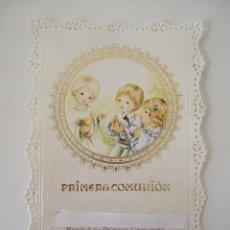 Postales: ESTAMPA RECORDATORIO COMUNION - 1987 - MALAGA . Lote 103199531