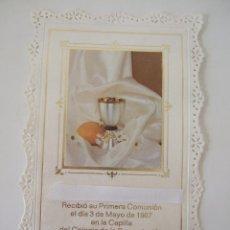 Postales: ESTAMPA RECORDATORIO COMUNION - 1987 - MALAGA . Lote 103199755