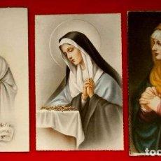 Postales: LOTE DE 3 ANTIGUAS POSTALES RELIGIOSAS - SANTA VIRGEN - REPRODUCCION OBRA DE ARTE TIZIANO. Lote 103256999