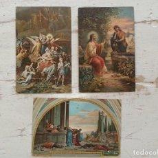 Postales: LOTE DE 3 POSTALES ANTIGUAS - RELIGIOSAS. Lote 103589011