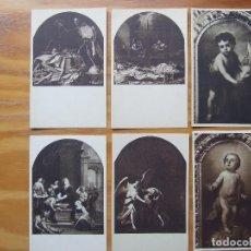 Postales: CONJUNTO DE 6 POSTALES ANTIGUAS RELIGIOSAS. Lote 103777335