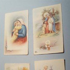 Postales: 4 RECORDATORIOS ESTAMPA RELIGIOSA. Lote 104212247