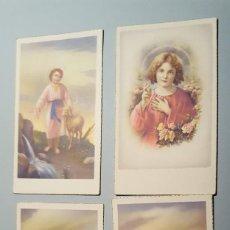 Postales: 4 RECORDATORIOS ESTAMPA RELIGIOSA. Lote 104212431