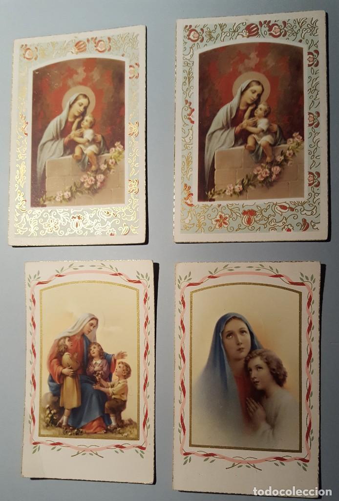 4 RECORDATORIOS ESTAMPA RELIGIOSA (Postales - Postales Temáticas - Religiosas y Recordatorios)