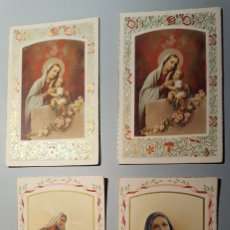 Postales: 4 RECORDATORIOS ESTAMPA RELIGIOSA. Lote 104212603