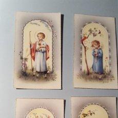 Postales: 4 RECORDATORIOS ESTAMPA RELIGIOSA. Lote 104212799