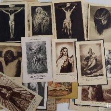Postales: LOTE DE NUMEROSOS RECORDATORIOS RELIGIOSOS. VER FOTOS. Lote 104264399