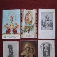 Postales: LOTE 6 ANTIGUAS ESTAMPAS VIRGEN , LAS DE LAS FOTOS. Lote 104302783