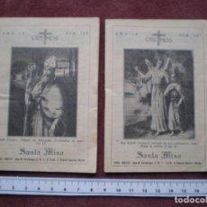 Postales: LOTE 2 LIBRITOS SANTA MISA PORTADAS SAN LAZARO Y SAN RAFAEL ARCANGEL. Lote 104794099
