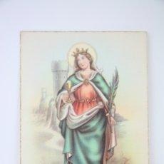 Postales: POSTAL RELIGIOSA - SANTA BÁRBARA - EDICIÓN D, Nº 87 - SIN CIRCULAR. Lote 104851010