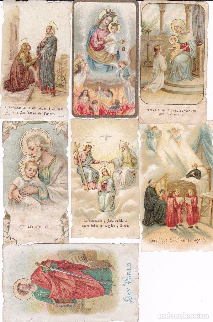 7 ESTAMPAS RELIGIOSAS PRINCIPIOS SIGLO XX (Postales - Postales Temáticas - Religiosas y Recordatorios)