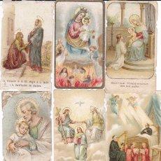 Postales: 7 ESTAMPAS RELIGIOSAS PRINCIPIOS SIGLO XX. Lote 105326651