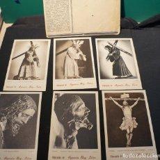 Postales: ANTIGUA COLECCIÓN DE 14 POSTALES DE LA SEMANA SANTA DE SEVILLA OBSEQUIO DE LA AGENCIA REY-SOLER. Lote 106111935