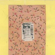Postales: ESTAMPA COLLAGE ,DUDAS DIBUJO A MANO GOLPE EN SECO OES 216. Lote 106171459