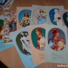 Postales: LOTE DE ORACIONES LITÚRGICAS A LA VIRGEN. Lote 106996375
